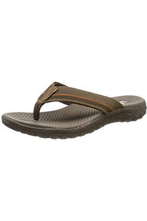 Skechers Men's REGGAE-COBANO Flip Flops, ( BRN)