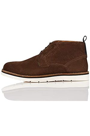 FIND Amazon Brand - Men's Chukka Boots, (Chocolate)