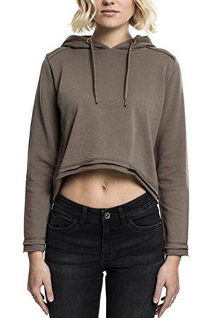 Urban classics Women's Ladies Cropped Terry Hoody Hooded Sweatshirt