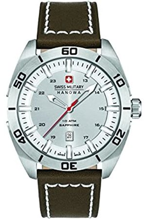 Swiss Military Men's Quartz Watch with Dial Analogue Display and Leather Strap 6-4282.04.001