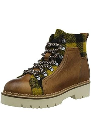 SCOTCH & SODA FOOTWEAR Women's Olivine Desert Boots, (Cognac+blk/Camel S455)