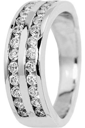 Burgmeister Jewelry Women's Ring 925 Sterling Silver Rhodium-Plated Cubic Zirconia JBM 2005–111