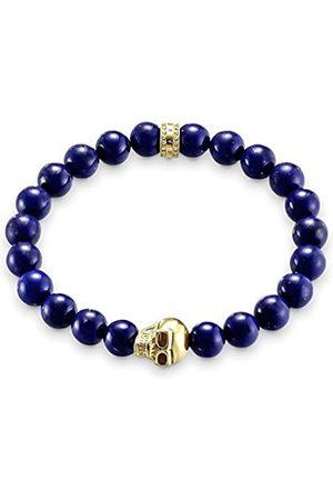 "Thomas Sabo Bracelet""Skull"" Simulated Lapis Lazuli of Adjustable Length 17cm"