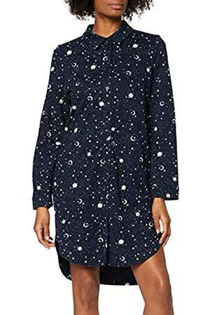Peopletree Women's Galaxy Print Pyjama Shirt Dress Nightie