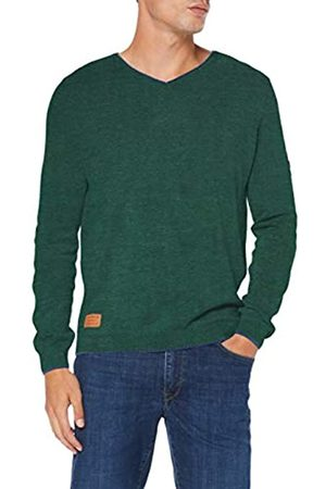 camel active Men's Vneck Plated Basic Jumper