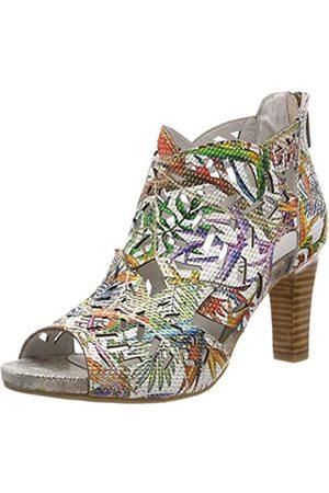 Laura Vita Women's Alcbaneo 049 Open Toe Sandals, (Rouge Rouge)