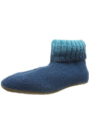 Haflinger Unisex Adults' Everest Iris Open Back Slippers, (Türkis 93)