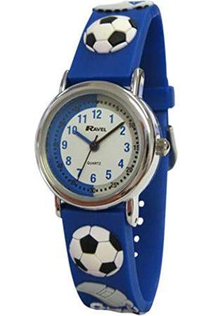 Ravel Children's 3D Blue Football Crazy Time Teacher Watch