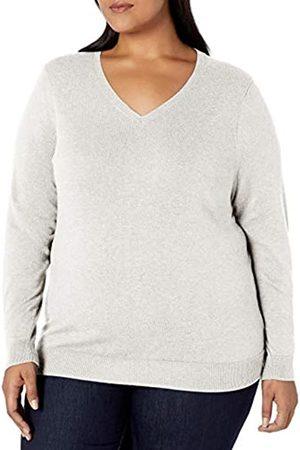 Amazon Plus Size Lightweight V-neck Sweater Ivory
