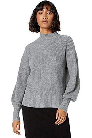 The Drop Women's Gwen Long-Sleeve Mock-Neck Ribbed Sweater