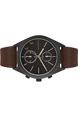 Christian Lacroix Mens Quartz Watch with Leather Strap CLMS1809