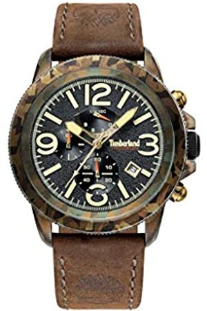 Timberland Mens Chronograph Quartz Watch with Leather Strap TBL.15474JSGN/02