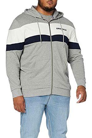Jack & Jones Men's Jornewshakedown Block Sweat Zip Ho Plus Jacket