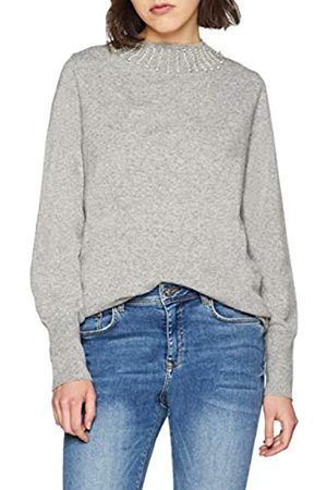 Blue Seven Women's Damen Pullover von mit Perlen-Applikation Jumper