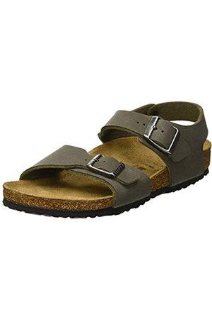Birkenstock Boys' New York Ankle Strap Sandals, (Brushed Emerald Brushed Emerald)