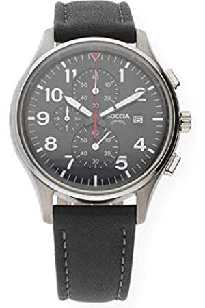 Boccia Men's Chronograph Quartz Watch with Leather Strap 3756-04