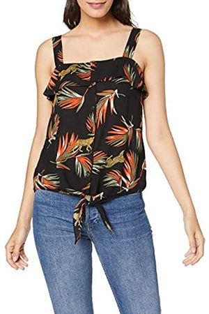 Dorothy Perkins Women's Tiger Palm Tie Hem Top Blouse