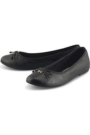 Tommy Hilfiger Women's Feminine Leather Knot Ballerina Pumps, ( Bds)
