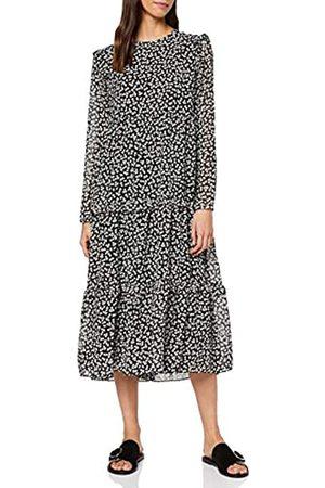 Warehouse Women's Little Leaf Tiered Midi Dress Casual