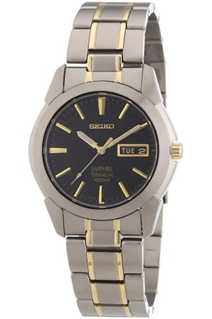 Seiko Men's Analogue Quartz Watch with Titanium Two-Tone Bracelet – SGG735
