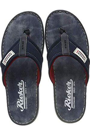 Rieker Men's 21089-14 Flip Flops, (Navy/Ozean-Schwarz 14)