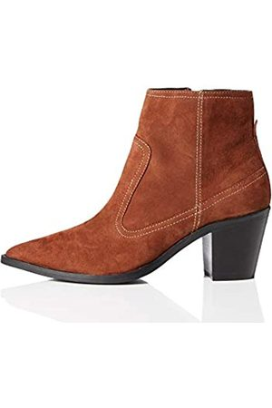 find. Amazon Brand - Stitch Leather High Western Ankle Boots, Brandy)