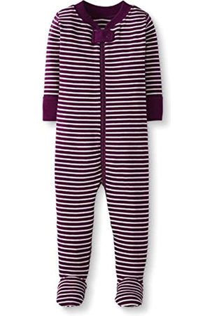 Moon and Back by Hanna Andersson Moon and Back One Piece Footed Pajama Sleepers, Berry