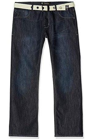Enzo Men's Ez14 Regular Fit Jeans with Belt