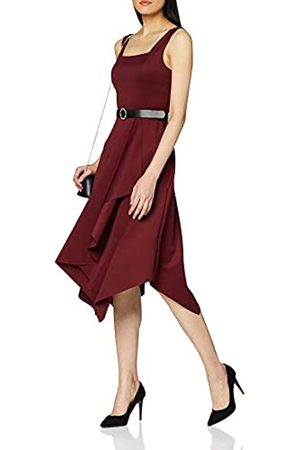 Dorothy Perkins Women's Scuba Belted Midi Drape Dress