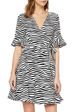 Mela Women's Zebra Stripe Wrap Dress Cocktail