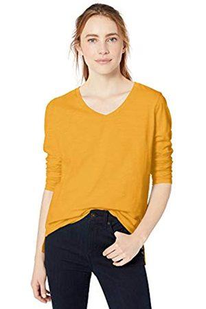 Goodthreads Vintage Cotton Long-sleeve V-neck T-shirt Mustard