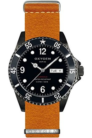 Oxygen Moby Dick 40 Mens Quartz Watch with Dial Analogue Display and Leather Strap EX-D-MBB-40-NL-OR