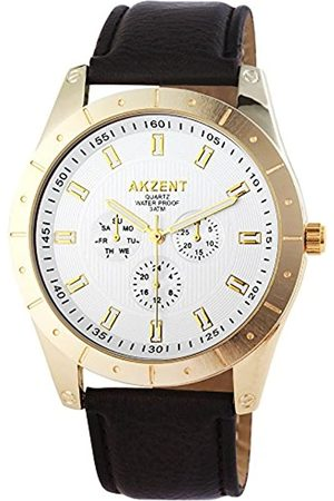 Akzent Men's Analogue Quartz Watch with Leather Strap SS7502500008