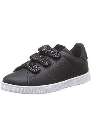 victoria Unisex Adults' Tenis Velcros Pu/Glitter Trainers, (Negro 10)