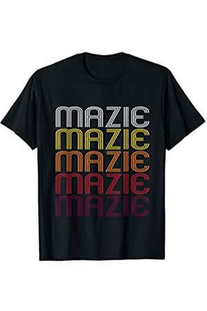 Ann Arbor Mazie Retro Wordmark Pattern - Vintage Style T-shirt