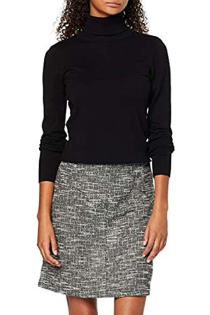 Dorothy Perkins Women's Salt & Pepper Zip Mi Skirt