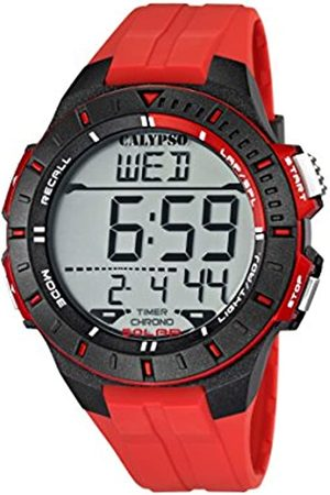 Calypso Unisex Digital Watch with LCD Dial Digital Display and Plastic Strap K5607/5