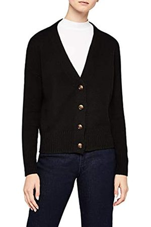 MERAKI Women's Boxy Fit Cotton Blend V-Neck Cardigan