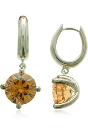 "Vilma Righi Women""s Earrings with Champagne Zirconia 925 / rhod."
