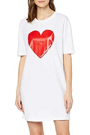 Love Moschino Women's Short Sleeve Jersey Dress_Heart & Italic Logo Print