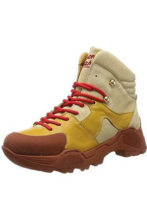 SCOTCH & SODA FOOTWEAR Women's Polly Combat Boots, (Cream-Ochre S142)