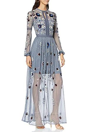 Frock and Frill Women's Harlow Long Sleeve Embellished Maxi Dress Party