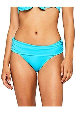 IRIS & LILLY Women's Swimwear Bikini Bottoms with Contrast Colour Fold-Over Design