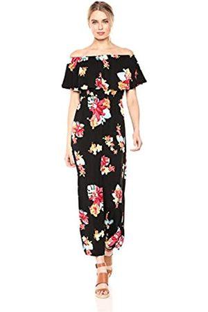 28 Palms Tropical Hawaiian Print Off Shoulder Maxi Dress Casual