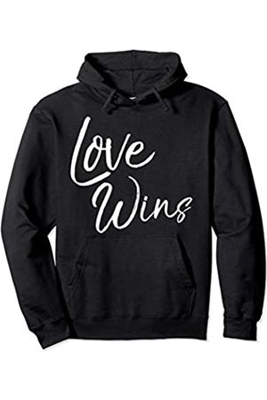 P37 Design Studio Jesus Shirts Cute Jesus Gifts Christian Love Quote for Women Love Wins Pullover Hoodie