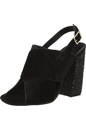 Boohoo Women's Heel Peeptoe Open Toe Sandals, ( Snake/Glitter)