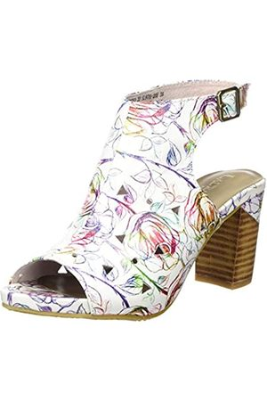 LAURA VITA Women's Bernie 20 Open Toe Sandals, (Blanc Blanc)