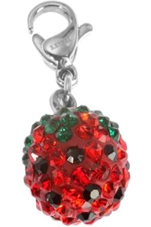 Akzent 006295000003 Ladies'Pendant Stainless Steel Spherical Strawberry