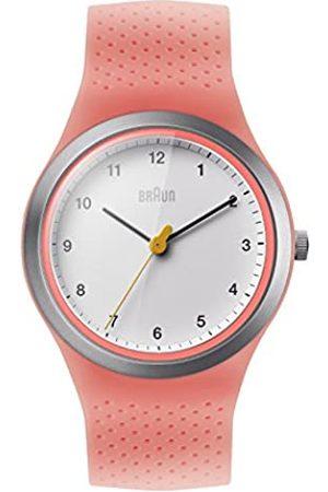 von Braun Women's Quartz Watch with White Dial Analogue Display and Silicone Strap