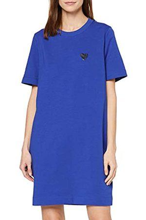 Love Moschino Women's Short Sleeve Stretch Fleece Dress_Heart Badge